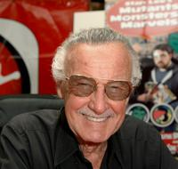 Stan Lee poses during a store appearance to promote the release of the new DVD