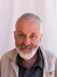 Mike Leigh at the Moet and Chandon Beach during the 63rd Annual Cannes Film Festival.