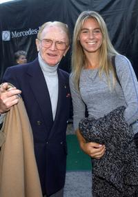 Red Buttons and Kate Jolson at the Mercedes Benz Cup pro-celebrity tennis match.