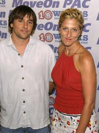 Richard Linklater and actress Edie Falco at the