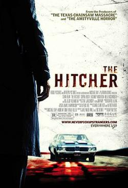 "Poster art for ""The Hitcher."""