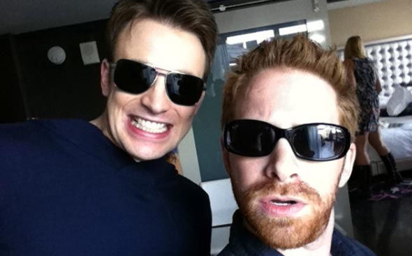 Chris Evans and Seth Green at SDCC 2011