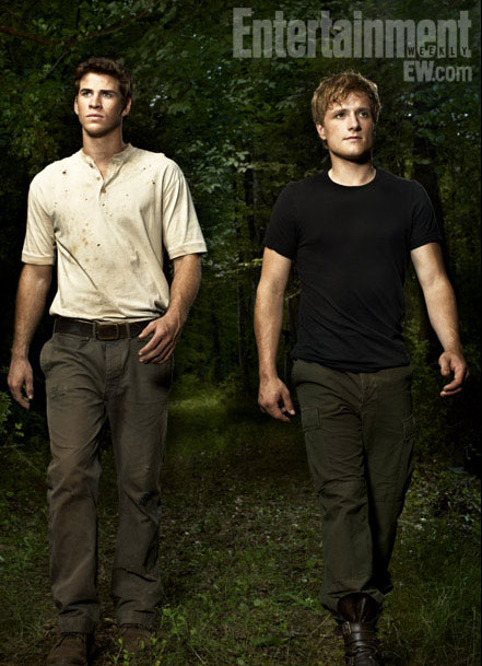Liam Hemsworth as Gale and Josh Hutcherson as Peeta