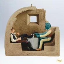 Hallmark ornament of Star Wars' Cantina scene