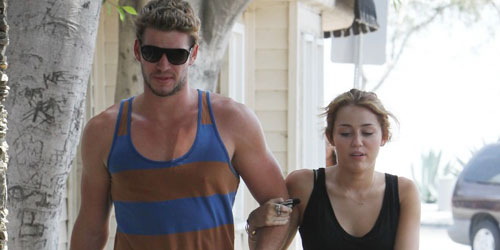 LiamHemsworthMileyCyrus Hunger Games Fans Weigh In: The First Image of Liam Hemsworth And Josh Hutcherson As Gale And Peeta