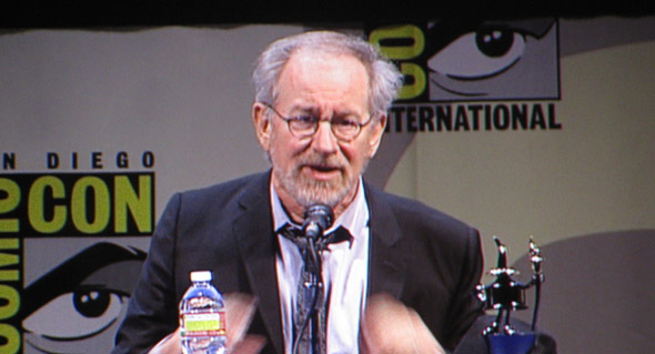 Spielberg at comiccon SDCC 2011 in 60 Seconds: Spielberg Finally Hits Con and Quoth The Raven Nevermore