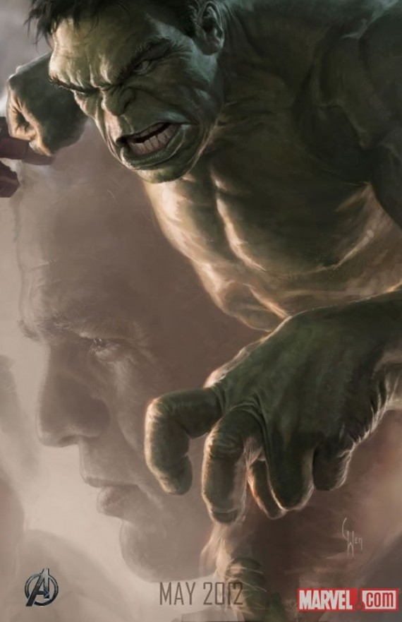 The Avengers Hulk Character Poster UPDATE: First Look at the New Hulk;Complete Avengers Team Posters Revealed