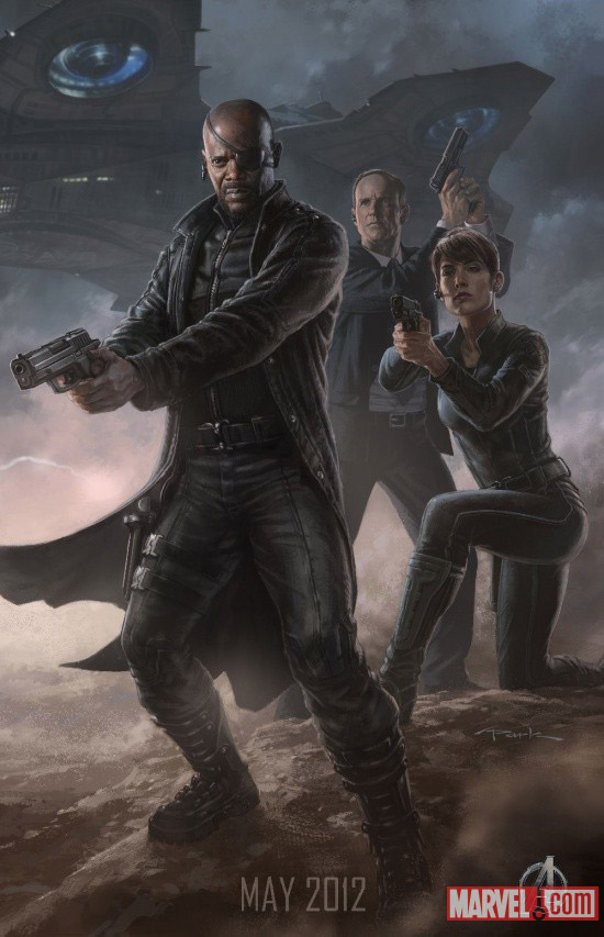 The Avengers Nick Fury Shield Character poster UPDATE: First Look at the New Hulk;Complete Avengers Team Posters Revealed