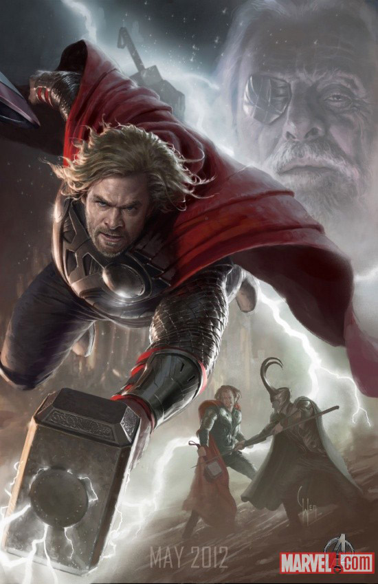The Avengers Thor Character Poster UPDATE: First Look at the New Hulk; Complete Avengers Team Posters Revealed