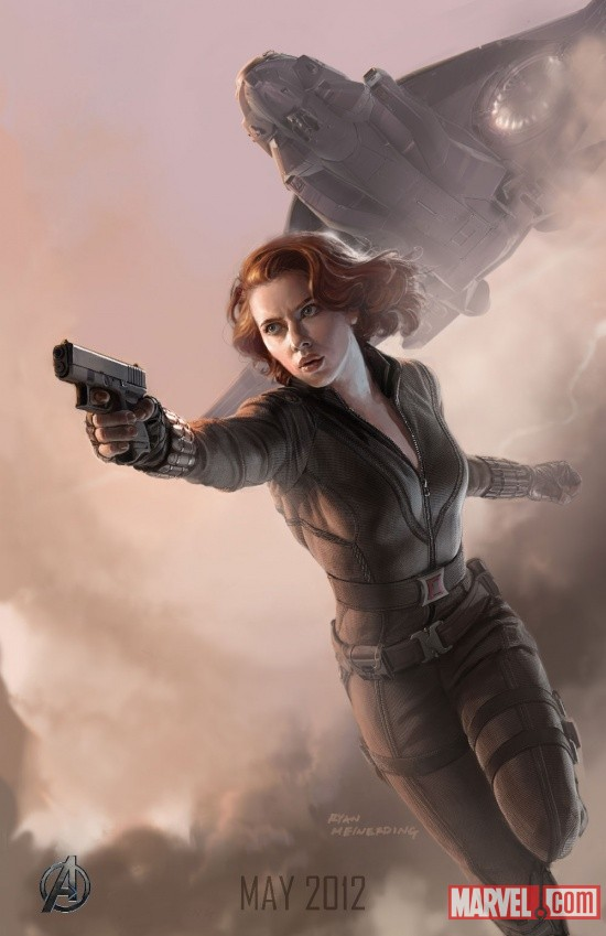 black widow poster UPDATE: First Look at the New Hulk;Complete Avengers Team Posters Revealed