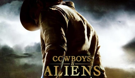 cowboys and aliens 535x311 Watch: The Cowboys & Aliens Interviews   Harrison Ford, Steven Spielberg, Jon Favreau and More