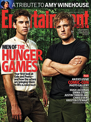 Gale and Peeta on EW Cover