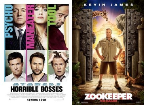 horriblebosseszookeeperposters Weekend Chatter: What Did You Think of Horrible Bosses and Zookeeper?