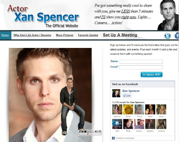 xanspencer Real or Movie Viral: The Ridiculously Over the Top Website for Aspiring Actor Xan Spencer