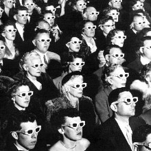 '50s audience watching a 3D movie