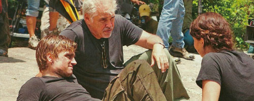 Gary Ross on the Set of The Hunger Games