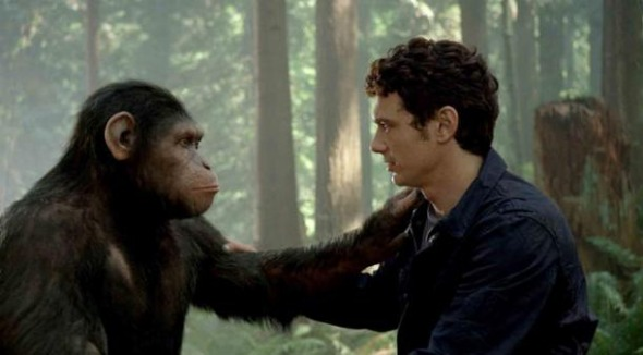 james franco planet of the apes 611x338 Weekend Chatter: What Did You Think of Rise of the Planet of the Apes