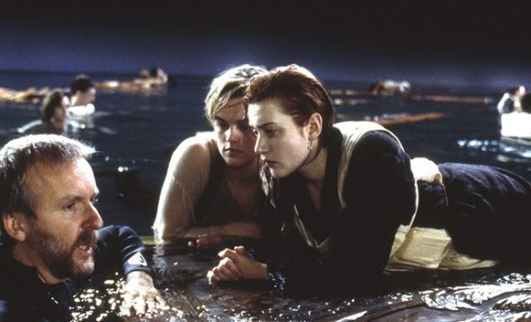 Kate winslet floating in water for titanic movie news movies com