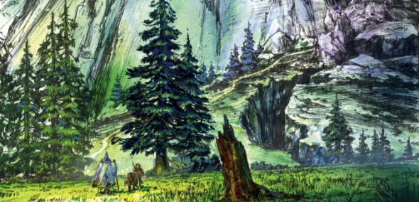 Concept art from Ralph Bakshi's Lord of the Rings