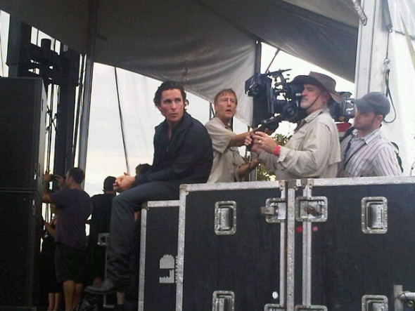 Christian Bale and Terrence Malick at ACL music fest