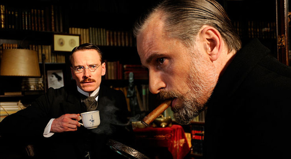 Michael Fassbender and Viggo Mortensen in A Dangerous Method