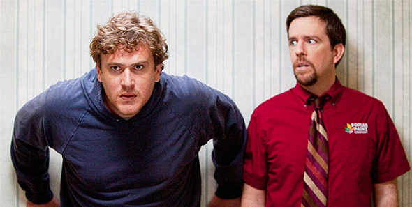 Jason Segel and Ed Helms in Jeff, Who Lives at Home