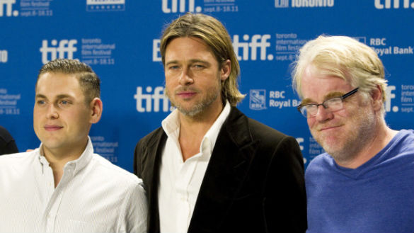 Jonah Hill, Brad Pitt, and Philip Seymour Hoffman, 'Moneyball' (The Canadian Press)