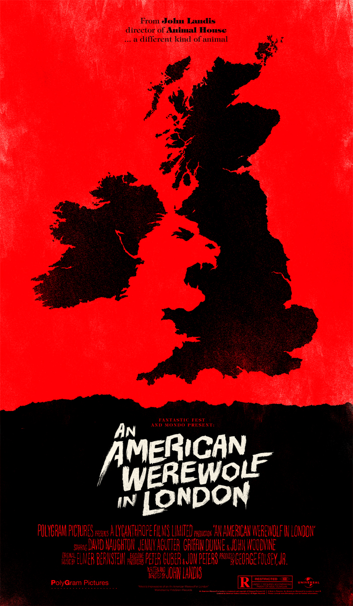 werewolf Check Out Olly Moss An American Werewolf in London Fantastic Fest Mondo Poster