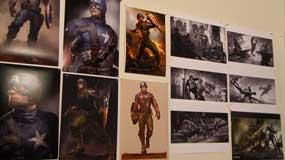 Cap America Concept Art Wall