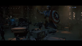 captain america jumping 285px Captain America: The First Avenger Blu ray Review: Above Average Disc for an Above Average Superhero Movie