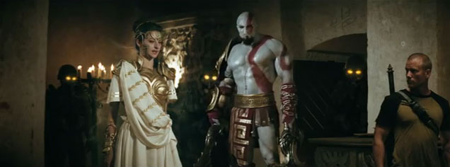 live action kratos Watch: Kratos, Solid Snake, Nathan Drake, and More Gaming Icons Walk Into a Live Action Bar
