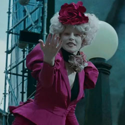 Effie in the Hunger Games Trailer