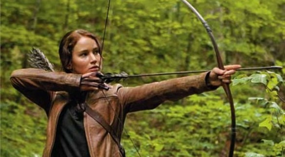 KatnissShoots1 Next Hunger Games Trailer to Premiere Monday; Movie Must Make $100 Million to Get a Sequel