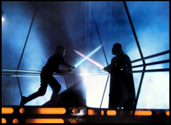 Empire Strikes Back Lightsaber fight