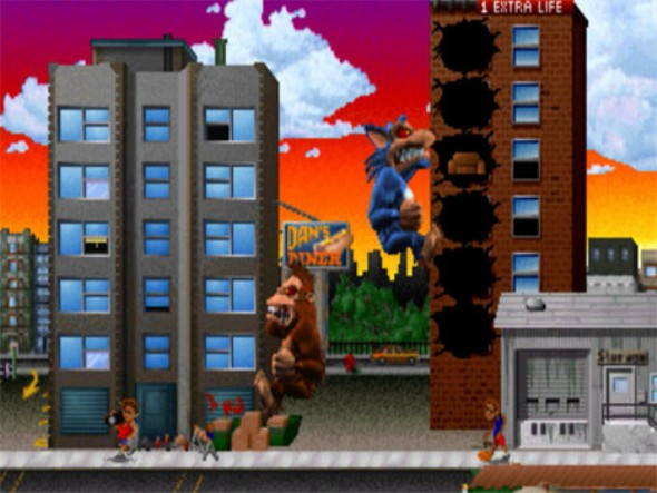 Rampage videogame screen