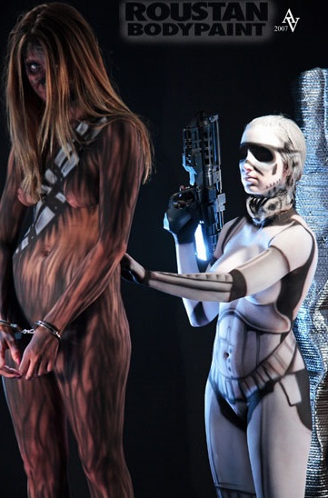 bodypaint1 Nerd Watch: Masterful Body Painter Takes on Star Wars, Superman, Zombies and More