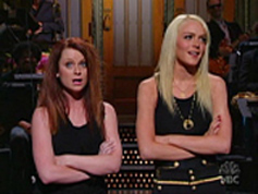 Lohan and Poehler, SNL
