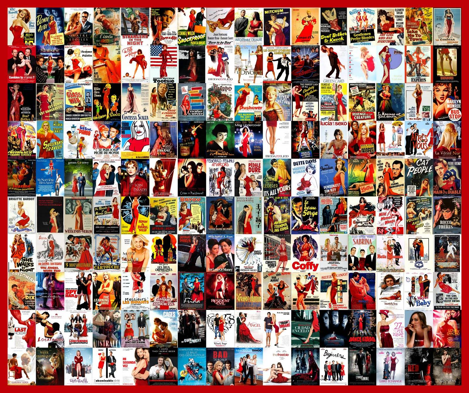Check this out hollywoods most common trends in movie posters movie poster trends red dresses buycottarizona
