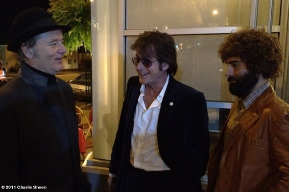 sheenmovie Image of the Day: Charlie Sheen Returns to Movies with Bill Murray and Jason Schwartzman By His Side