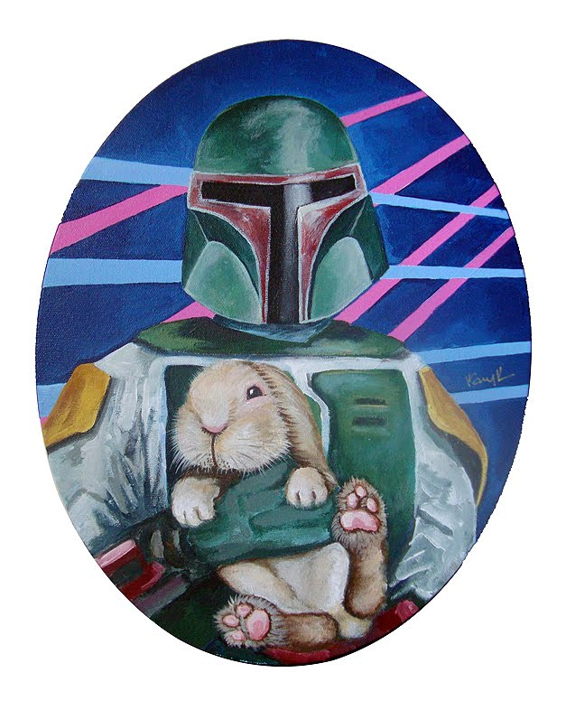 star wars pet love boba fett Image(s) of the Day: Star Wars Bad Guys Holding Bunnies