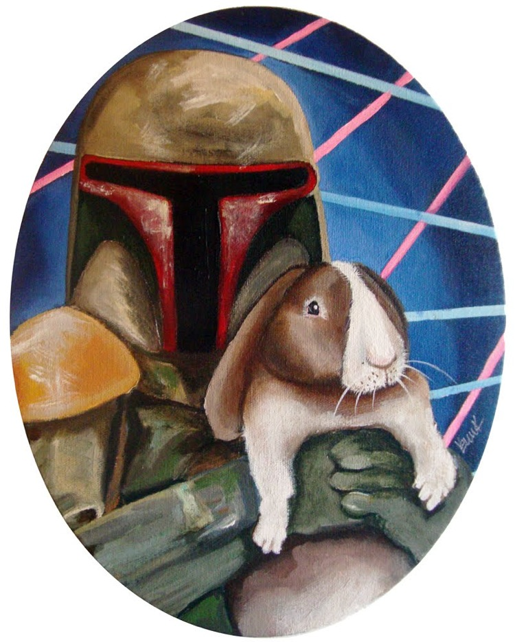 star wars pet love fett Image(s) of the Day: Star Wars Bad Guys Holding Bunnies