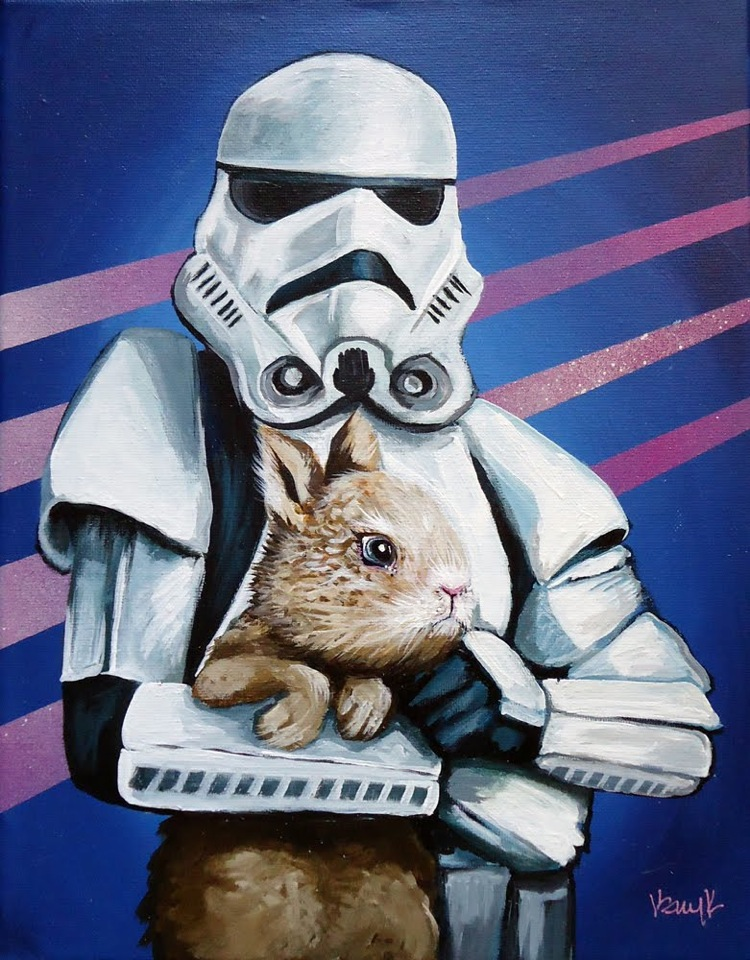 star wars pet love stormtrooper Image(s) of the Day: Star Wars Bad Guys Holding Bunnies
