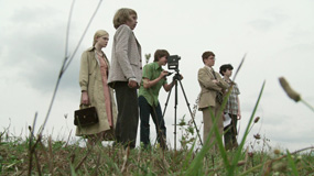 super 8 kids behind the scenes 285px Super 8 Blu ray Review: The Best Looking Blu ray of the Year
