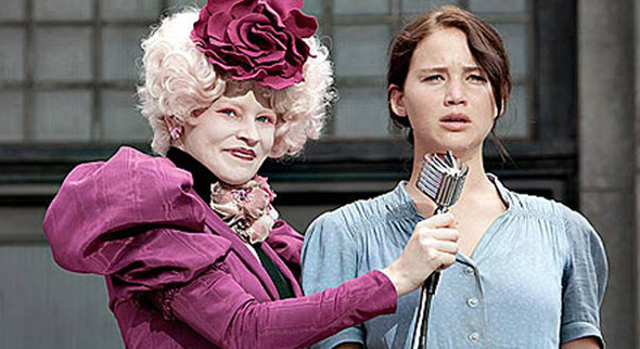 Katniss and Effie in Hunger Games