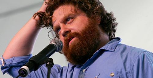 zach111 Stars in Rewind: Zach Galifianakis Hilarious Stand Up from 1999