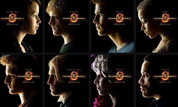 Hunger Games Character Posters
