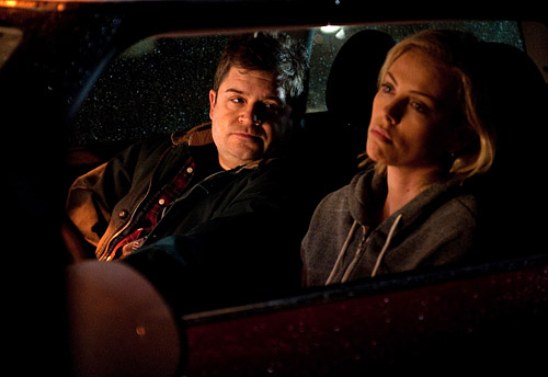 Patton Oswalt and Charlize Theron in Young Adult (Courtesy of Paramount Pictures)