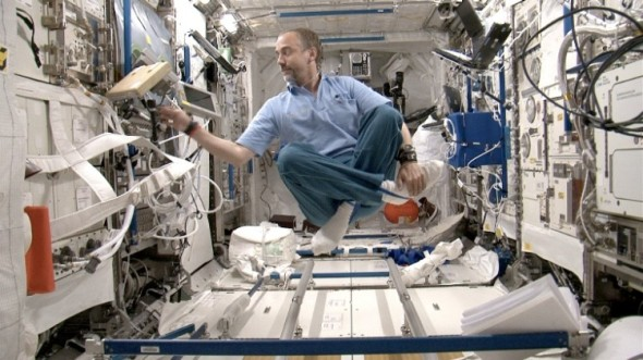 Richard Garriott aboard the international space station