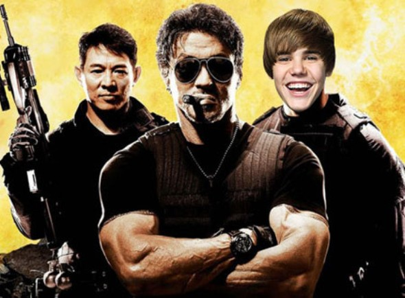 Expendables 2 with Bieber