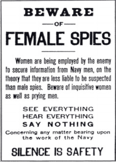 Notice About Female Spies